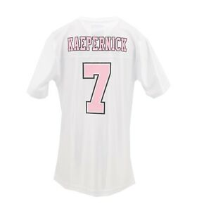 the latest 9581b e834e Details about San Francisco 49ers Official NFL Kids Youth Girls Size Colin  Kaepernick Jersey