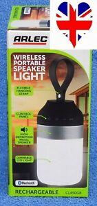 arlec rechargeable wireless portable speaker light bluetooth