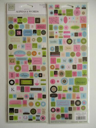 alphabets /& Words glitter cardstock stickers Heidi Grace Reagan/'s Closet