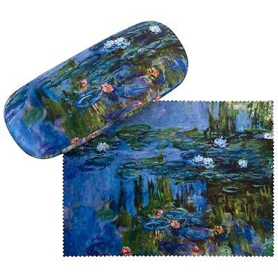 Importato Dall'Estero Occhiali Astuccio Custodia Robusta Box Arte Motivo Da Donna Accessorio Claude Monet Seerosen 7503-mostra Il Titolo Originale