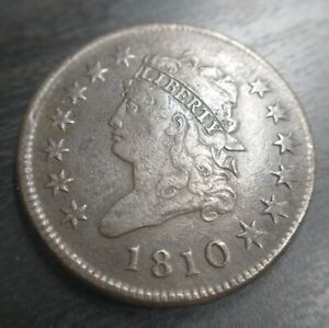 1810 Classic Head Large Cent VF Very Fine Uncertified