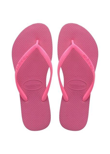 0394a42af6ce Womens Havaianas Slim Flip Flops Shocking Pink Sandals UK 2 - 3 for ...