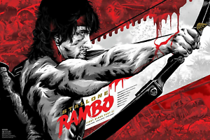 Rambo First Blood Classic Movie Art Silk Poster 24x36inch
