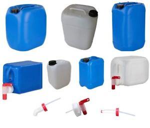 Wasserkanister-2-2-5-3-5-10-20-25-30-L-Liter-lebensmittelecht-leer-dicht-Hahn