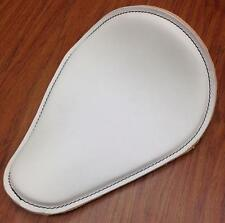 White Leather Spring Solo Motorcycle Seat Harley Davidson Sportster 48 Nightster