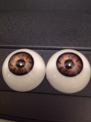 ONE 20MM Dark Grey WE06   Acrylic Half ROund Reborn DOll Eyes
