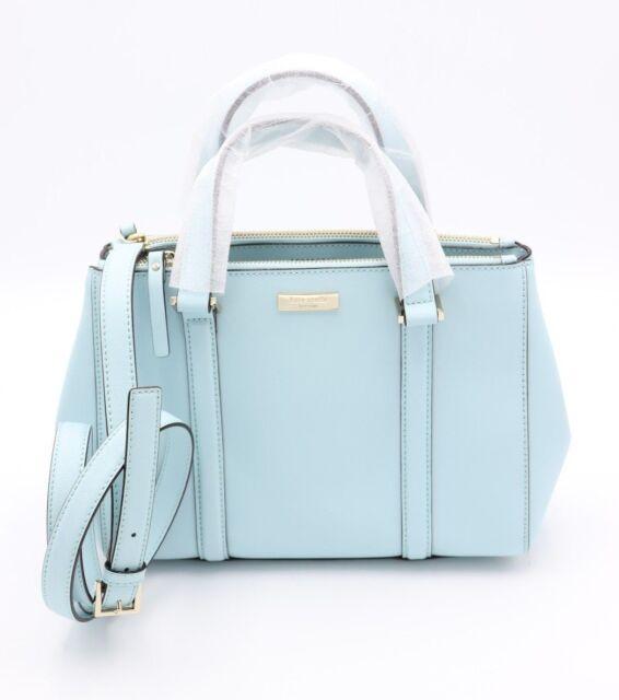 Nwt Kate Spade New York Newbury Lane Blue Leather Small Loden Satchel Bag Purse