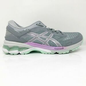 Asics-Womens-Gel-Kayano-26-1012A974-Gray-Running-Shoes-Lace-Up-Low-Top-Size-7-5