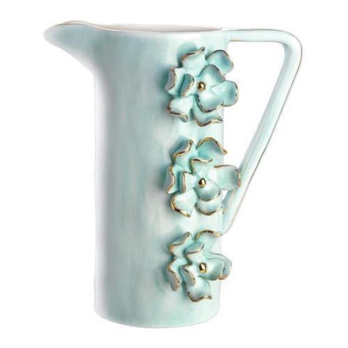 MAGENTA JUG BY STUDIO B BY BRENDA HOLZKE, bleu FLOWERS,