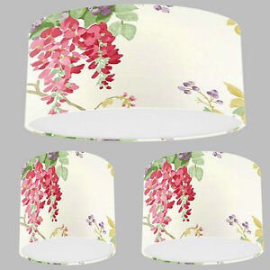 Handmade lampshade with laura ashley wisteria cranberry red image is loading handmade lampshade with laura ashley wisteria cranberry red aloadofball Images