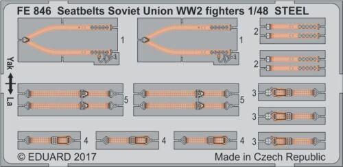 Eduard 1//48 Seatbelts Soviet Union WWII Fighters STEEL # FE846
