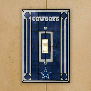 DALLAS-COWBOYS-NAVY-BLUE-ART-GLASS-SWITCH-PLATE-COVER