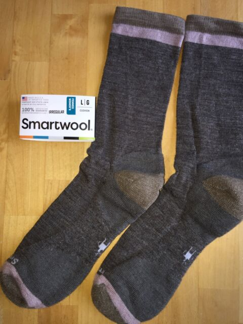 SmartWool Jitterbug Crew Socks–taupe Heather Casual Dress Outdoor  Hike–women LG