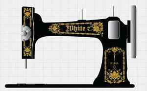 Sewing (1930-now) Collectibles Logical White Vs3 Vibrating Shuttle Sewing Machine Restoration Decals Gold Metallic