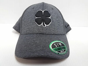 57458a376 Details about Black Clover Cap Jersey Luck #1 Heathered Black Stretch Fit  Golf Hat Live Lucky