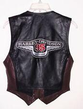 Harley Davidson 95 Years Leather Vest Anniversary 1903-1998 Women Size M
