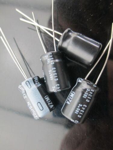13pcs Nichicon VZ 220mfd 63v 220uf electrolytic capacitor 105℃ 10*16mm