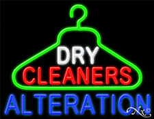 New Dry Cleaners Alterations 31x24 Logo Real Neon Sign Withcustom Options 11246