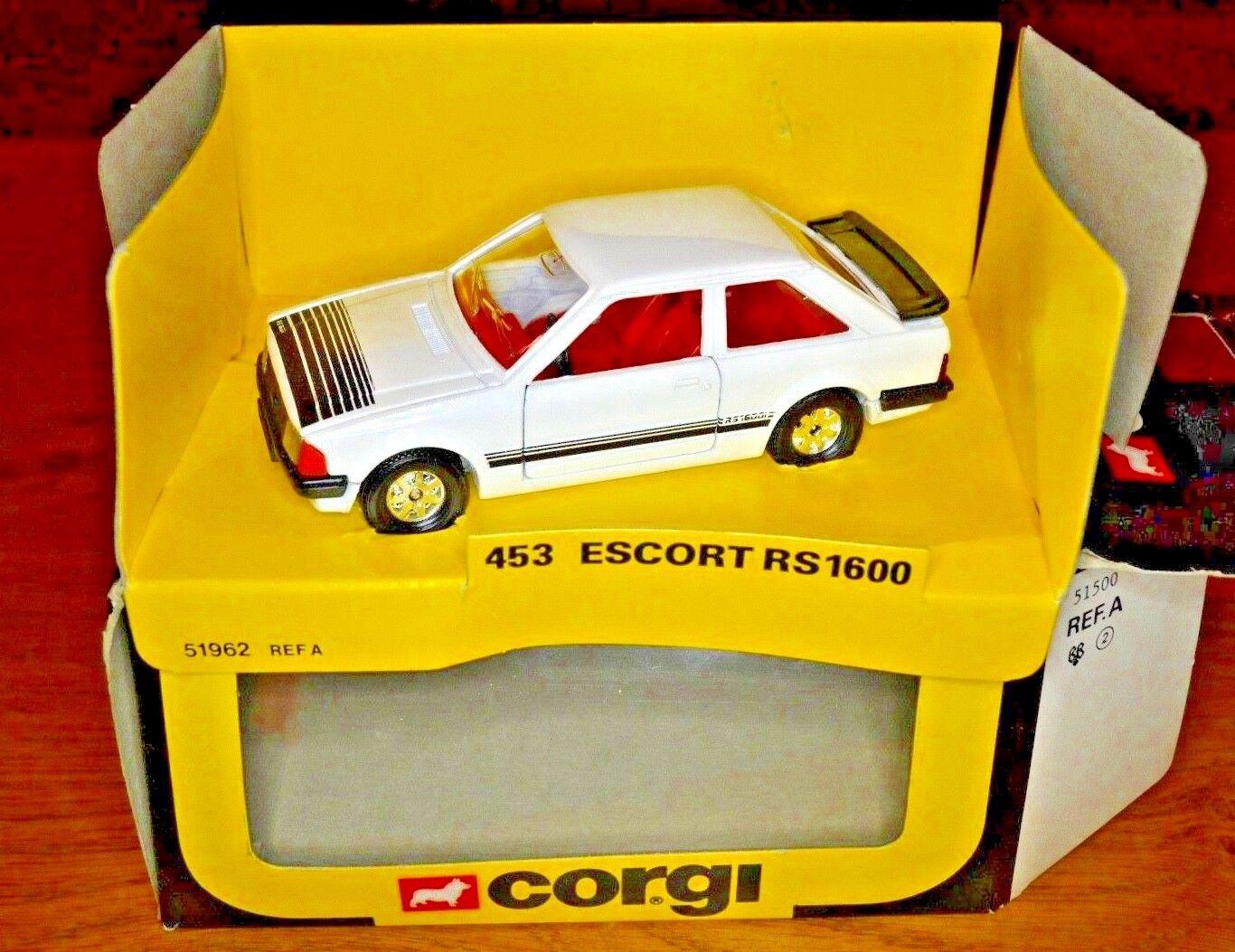 VINTAGE Corgi no. 453 ESCORT RS 1600 originale Scatola di finestra
