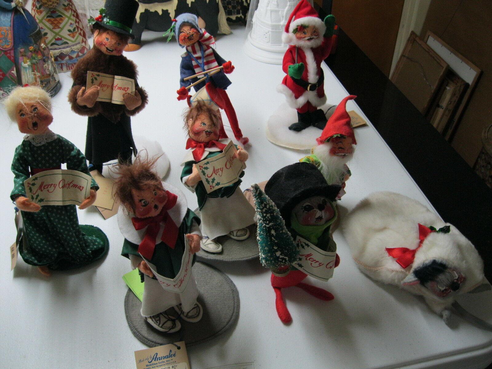 BULK LOT OF 9 Annalee Dolls