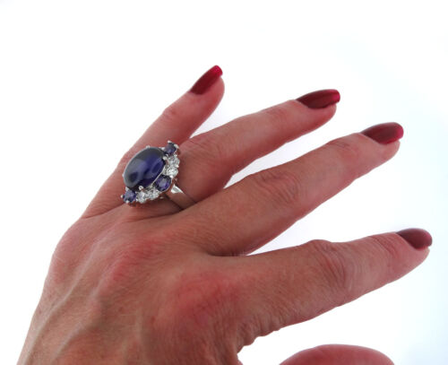 Fuchsia Dome Stone Silver White Gold Plated Ladies Ring