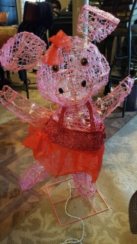 """31/""""   DANCING PIG LED PRE LIGHTED  Christmas Outdoor Decoration"""