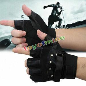 Men-Soft-Sheep-fashion-Leather-Driving-Motorcycle-Biker-Fingerless-Warm-Gloves