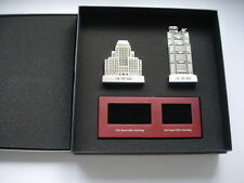 HSBC Bank Main Building Tower 1935&1985 Model Metal Souvenir Pewter Paperweight