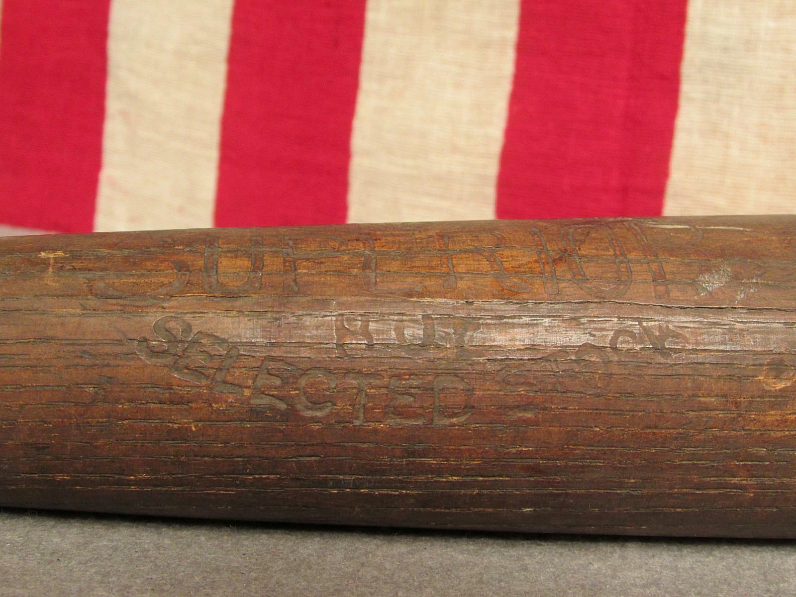 Vintage Superior Früh Holz Baseball Schläger 30 Antik