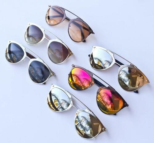 Large Mirror Reflected LUX Metal Aviator So Real Fashion Women Sunglasses 10096