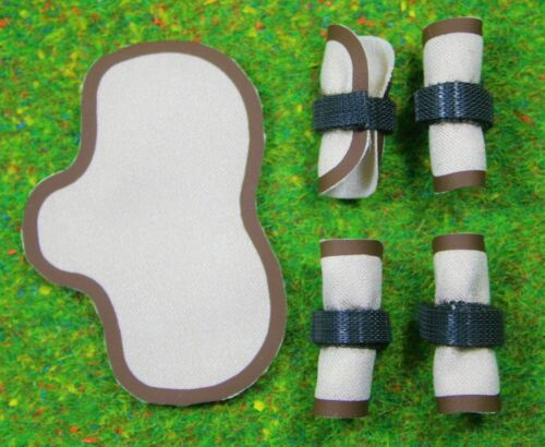 Satteldecke Gamaschen Zubehör passend für Schleich  Pferde Sattel