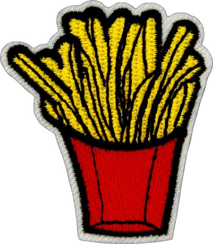 22176 Yummy Golden French Fries Fry Food Cut Out Embroidered Sew Iron On Patch
