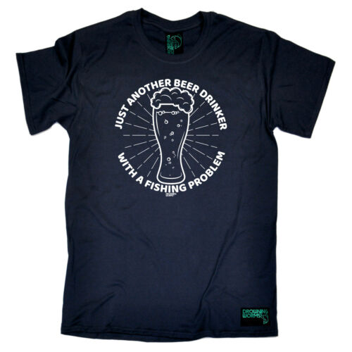 Just Another Beer Drinker With A Fishing T-Shirt Funny Novelty Mens tee TShirt