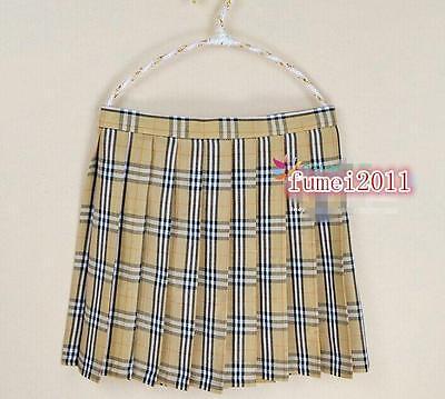 Wholesale Price School Girls Plaid Pleated Mini Skirt Anime Cosplay Skirt Hot