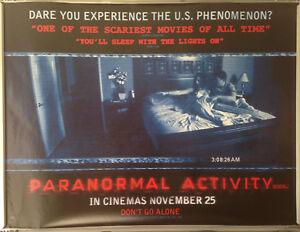 Cinema Poster Paranormal Activity 2009 Quad Micah Sloat Katie Featherston Ebay