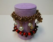 Bracelet jewellery display roll for elasticated bracelets (Lilac Suede)