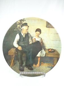 Vintage-plate-Knowles-Norman-Rockwell-The-Lighthouse-Keeper-039-s-Daughter