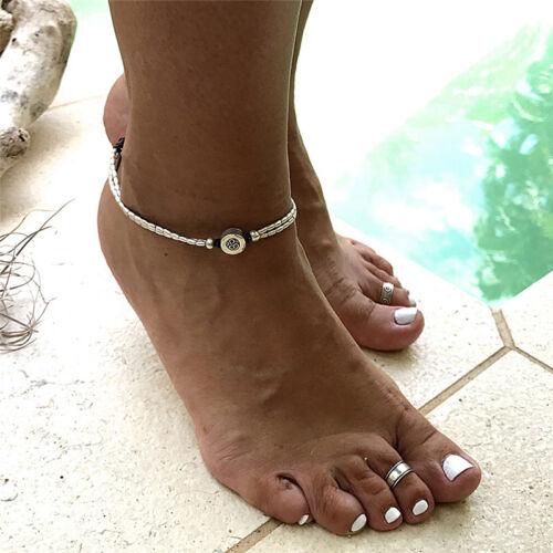 Boho Seestern Fußkettchen Vintage Knöchel Armband Frauen Buddha Fuß Schmuck OXDE