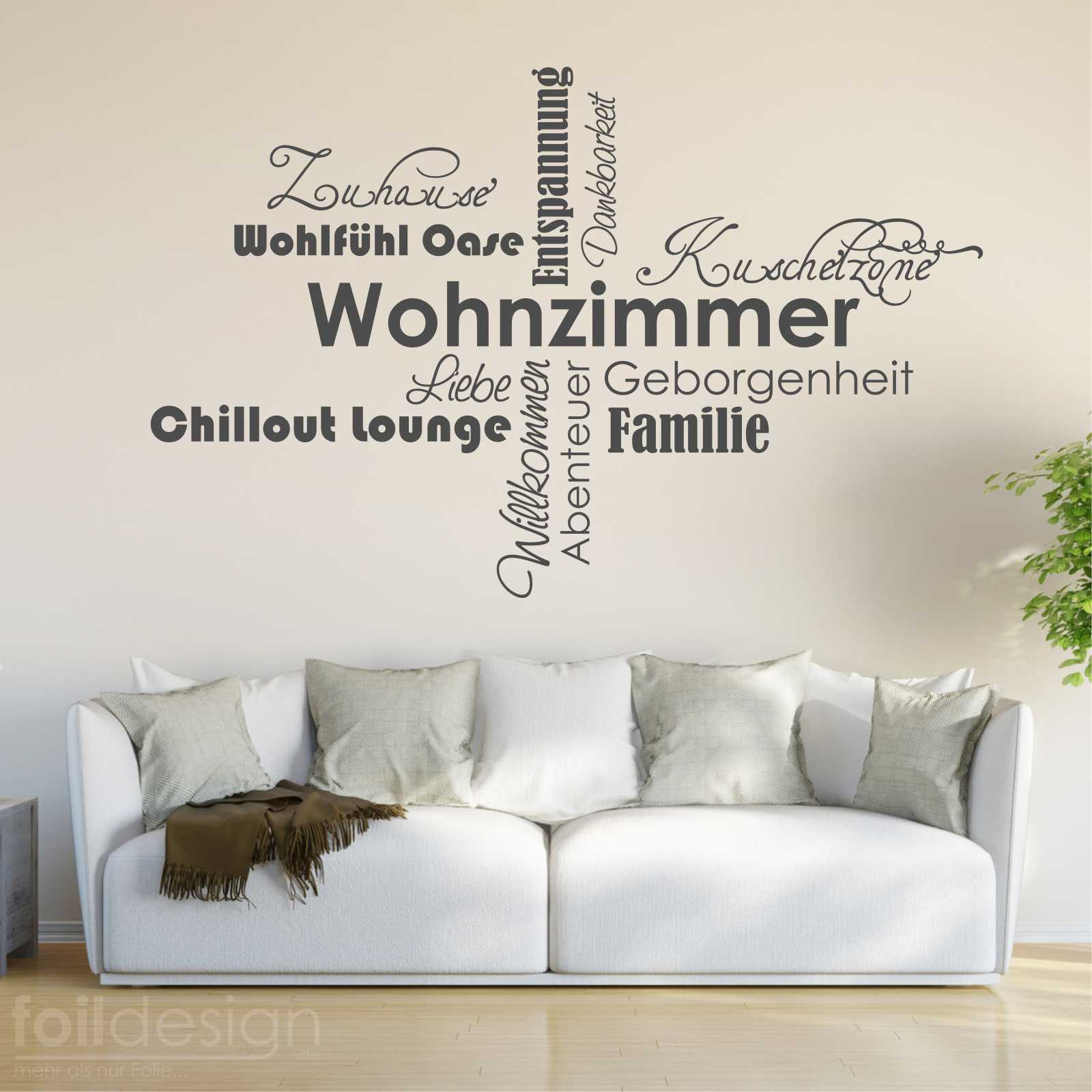 Wandtattoo Wandsticker Wandaufkleber Bei uns Zuhause Familie Wohnzimmer  WT049