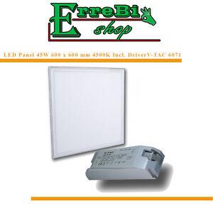panneau led panneau plafon encastr suspension 60x60 45w slim 4500k v tac 6218 ebay