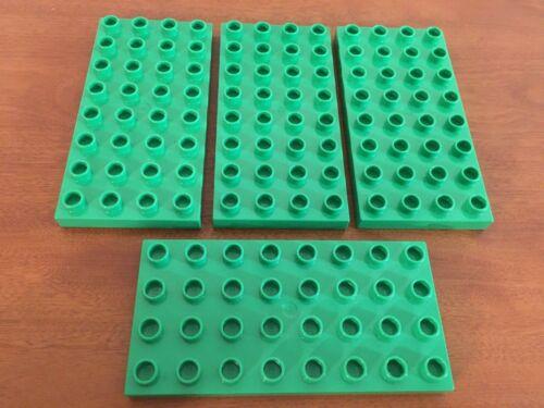 Lego Duplo brick lot 4x8 thin blocks lot of 4 Good Preowned Condition