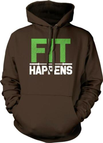 Fit Happens WOD Weight Lifting Exercise Training Fitness Hoodie Pullover