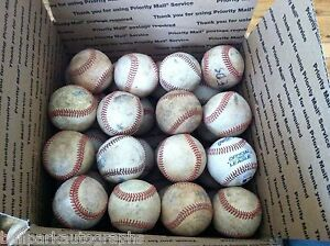 Lot of 32 Well Used All Leather Cover Baseballs Fielding Batting Practice Balls
