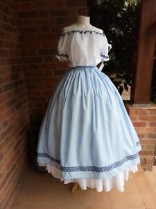 Victorian/Civil war Skirt and Blouse.Theatrical/Re-Enactment all sizes/colours
