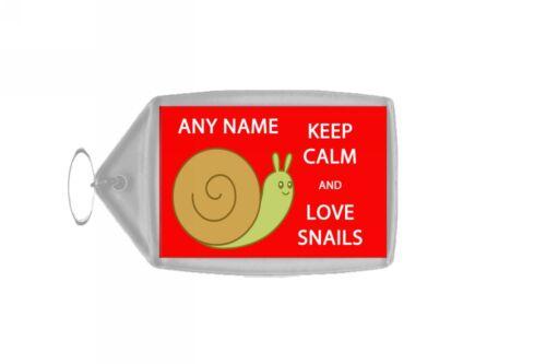 Restez calme et amour escargots personnalisé grand trousseau