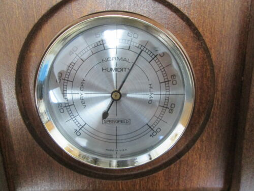 NIB Springfield Mendham Weather Station Therm Barometer Humidty Meter 8125
