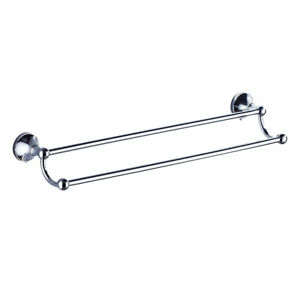 Details About Magideal Bathroom Accessories Fitting Double Towel Rail Bar Brass Towel Rack