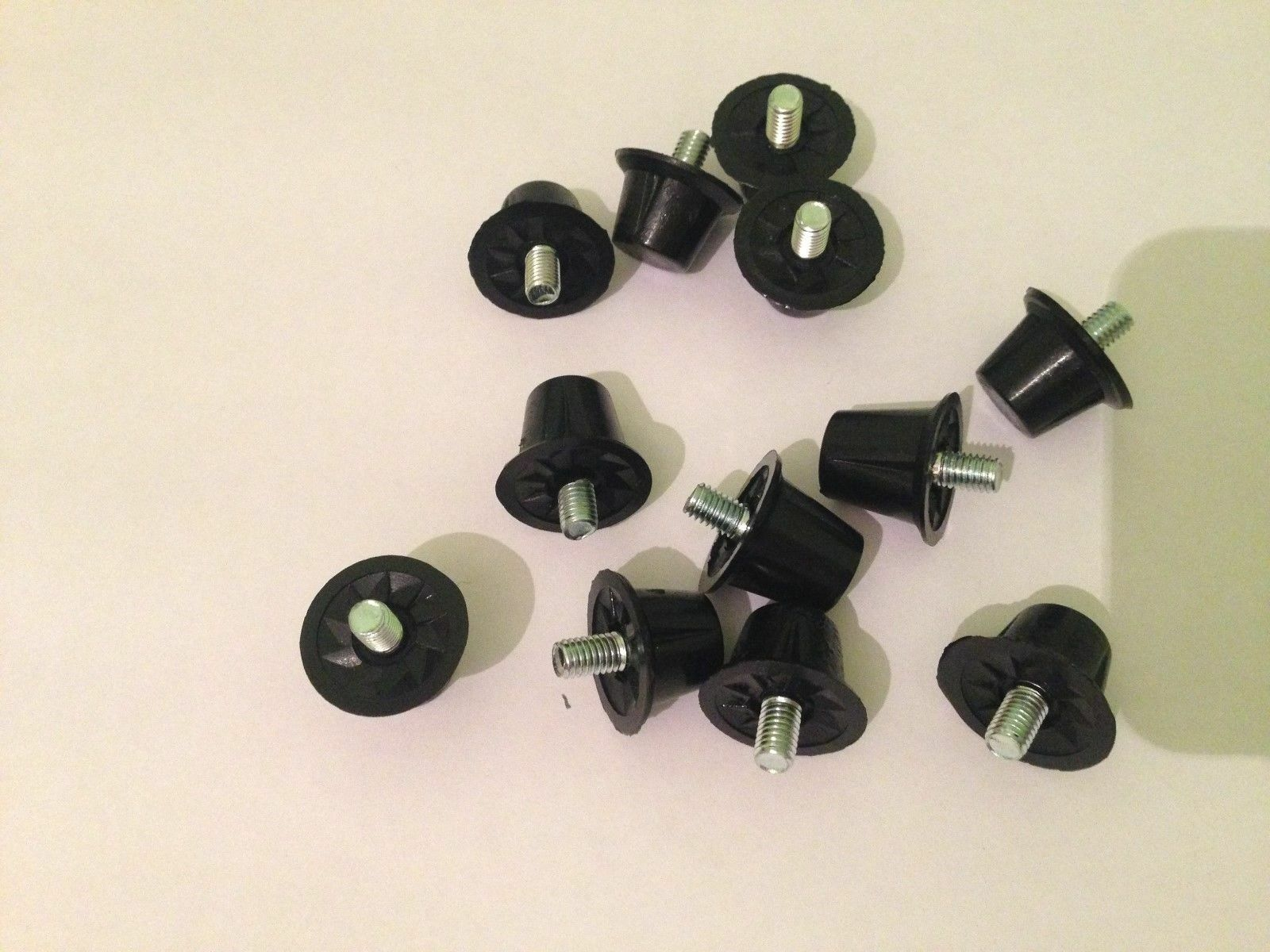 Precision Set of 12 Alloy Football Silver Replacement Studs
