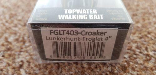 TOPWATER  WALKING BAIT FGLT403-CROAKER  4/'/' LUNKERHUNT FROGLET