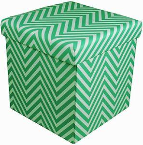 Sorbus-Chevron-Foldable-Collapsible-Storage-Ottoman-Cube-Chevron-Green